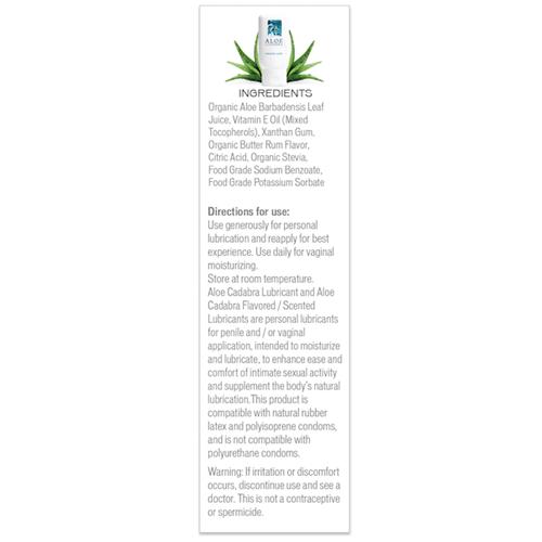 Aloe Cadabra Butter Rum Ingredients