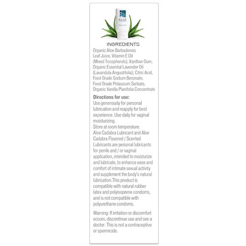 Aloe Cadabra Lavender Ingredients