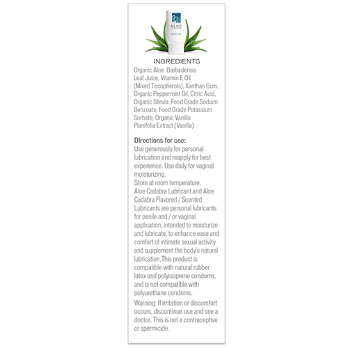 Aloe Cadabra Peppermint Ingredients