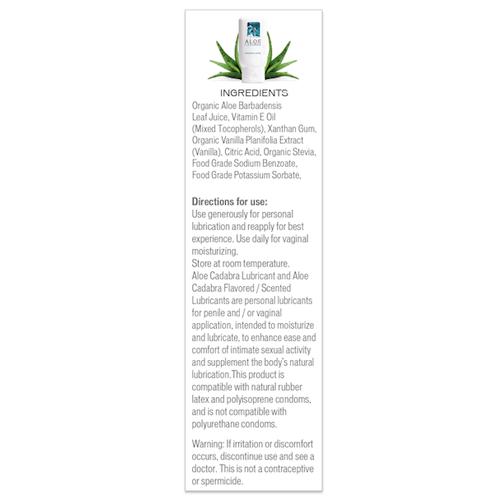 Aloe Cadabra Vanilla Ingredients