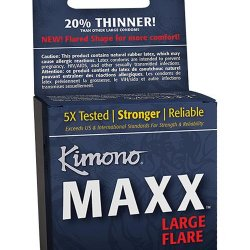 A 3 pack box of Kimono condoms.