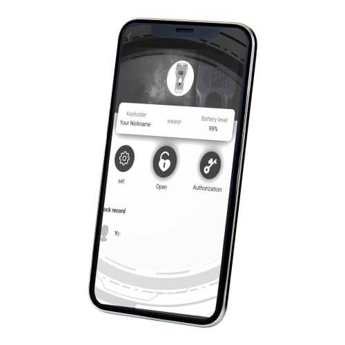 A phone with the screen open to the CellMate app.