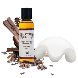 Organic Chai Oil and Massage Stone