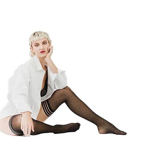 Ally Polka Dot Thigh-High