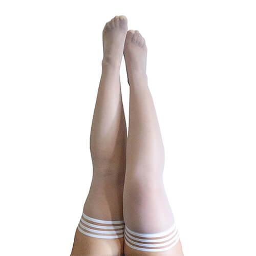 Ashley Sheer White Thigh-High