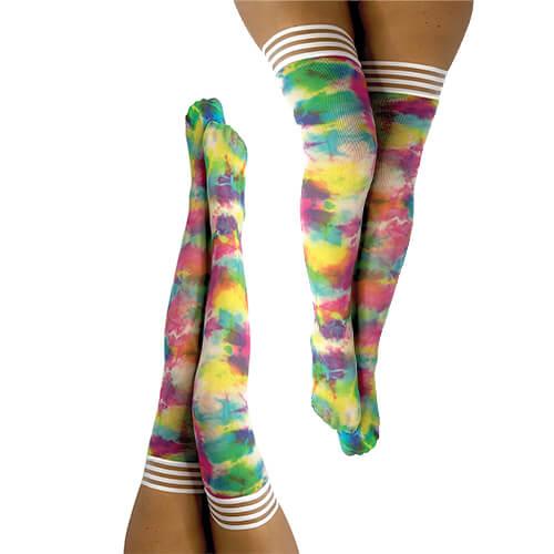 Gilly Rainbow Tie Dye Thigh-High