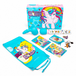 le wand special edition unicorn wand with included merch.